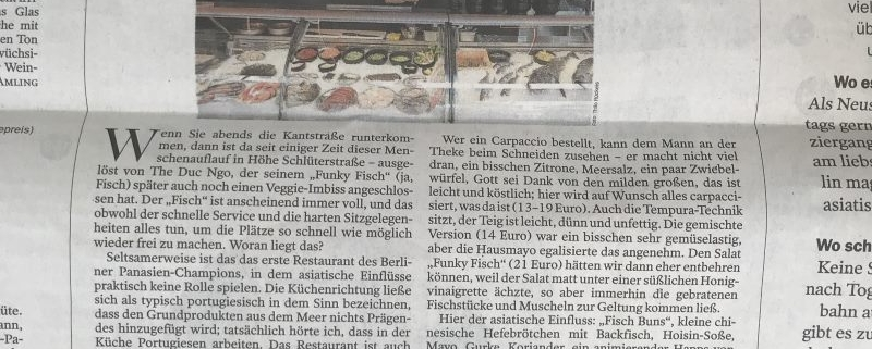 Mit freundlicher Genehmigung des Berliner Tagesspiegels, Der Tagesspiegel vom 1. September 2018